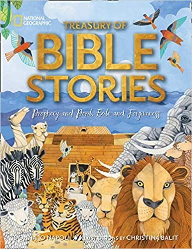 Treasury of Bible Stories: A mosaic of prophets, kings, families, and foes (National Geographic Kids)