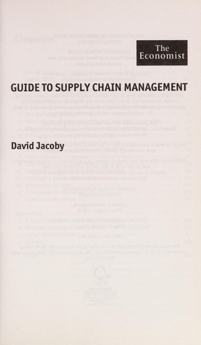 the economist guide to supply chain management jacoby david