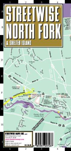 Streetwise North Fork Map - Laminated City Street Map Of North Fork, Ny