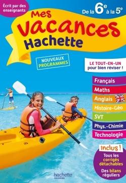 MES VACANCES HACHETTE 6E/5E 2017