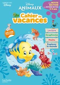 Disney animaux : cahier de vacances : de la petite section à la moyenne section, 3-4 ans - J'apprends avec Disney
