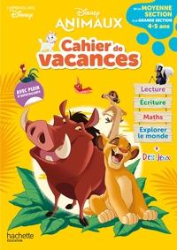 Disney animaux : cahier de vacances : de la moyenne section à la grande section, 4-5 ans - J'apprends avec Disney