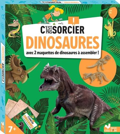 Dinosaures - Avec 2 maquettes de dinosaures à assembler !