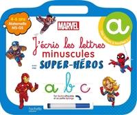 J'écris les lettres minuscules avec mes super-héros : maternelle MS, GS, 4-6 ans - Disney livre-ardoise