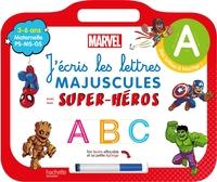 J'écris les lettres majuscules avec mes super-héros : maternelle PS, MS, GS, 3-6 ans - Disney livre-ardoise