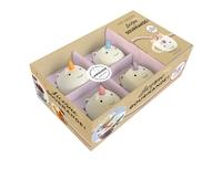 Licorne et gourmande ! - Coffret avec 4 petits mugs licorne en céramique   un agenda avec 12 recettes de mug cakes