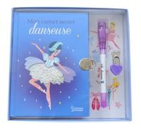 Mon carnet secret danseuse - Avec un petit cadenas en forme de coeur et un stylo à encre invisible
