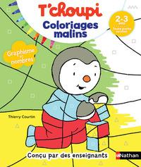 Coloriages malins T'choupi, graphisme et nombres, 2-3 ans, toute petite section