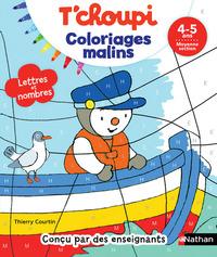 Coloriages malins T'choupi, lettres et nombres, 4-5 ans, moyenne section