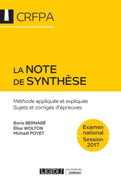 La Note De Synthese 6Eme Edition