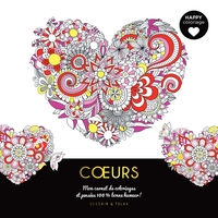 Coeurs : mon carnet de coloriages & pensées 100 % bonne humeur !