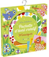 Pochette d'éveil créatif mosaïques - 6 cartes à compléter et à décorer, 260 mosaïques en mousse
