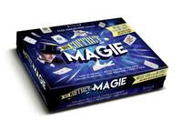 Coffret magie - Contient 25 fiches, 1 jeu de cartes, 2 foulards, 3 balles en mousse, 1 cube magique, 1 faux pouce avec 1 DVD
