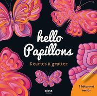 Hello papillons : 6 cartes à gratter