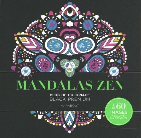 Bloc de coloriage Black Premium - Mandalas Zen