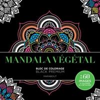 Bloc De Coloriage Black Premium - Mandala Végétal