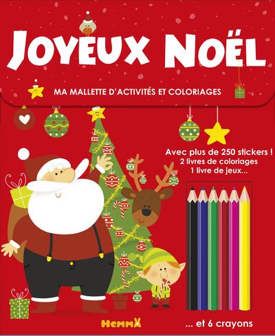 MA MALLETTE D'ACTIVITES ET COLORIAGES JOYEUX NOEL (FOND ROUGE)