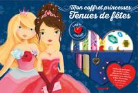 Mon coffret princesses tenues de fêtes - Avec 2 tubes de paillettes, des perles à coller, plus de 150 stickers, des tattoos avec dorures, 1 bloc d'activités, des pochoirs, 1 pendantif en coeur