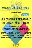 Epreuve De Logique & De Mathematiques 5Eme Ed 2009