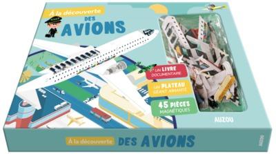 A la découverte des avions - Avec un livre documentaire, un plateau géant aimanté, 45 pièces magnétiques
