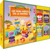 Les mini-héros de la savane - Avec quatre marionnettes à doigts