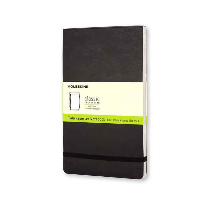 Moleskine plain soft reporter notebook large