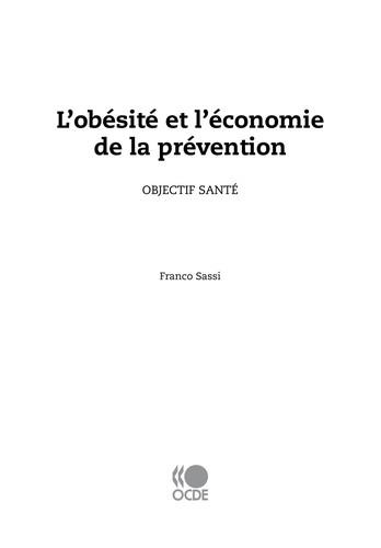 Obésité Et Économie De La Prévention : Objectif Santé (French Edition)